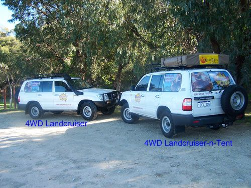 Landcruiser (Left) OR Landcruiser with Roof Tent (Right) : tent hire perth - memphite.com
